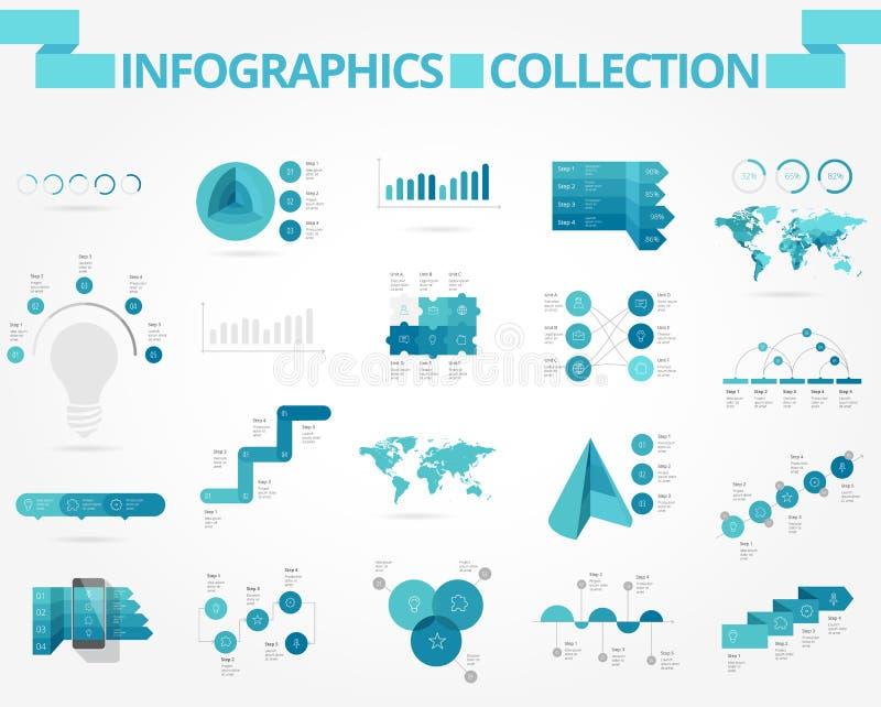 Affär och samkväminfographics royaltyfri illustrationer