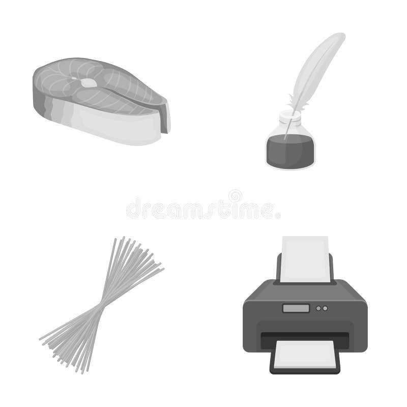 Affär, restaurang, bransch och annan rengöringsduksymbol i monokrom stil papper apparatur, teknologisymboler i uppsättning vektor illustrationer