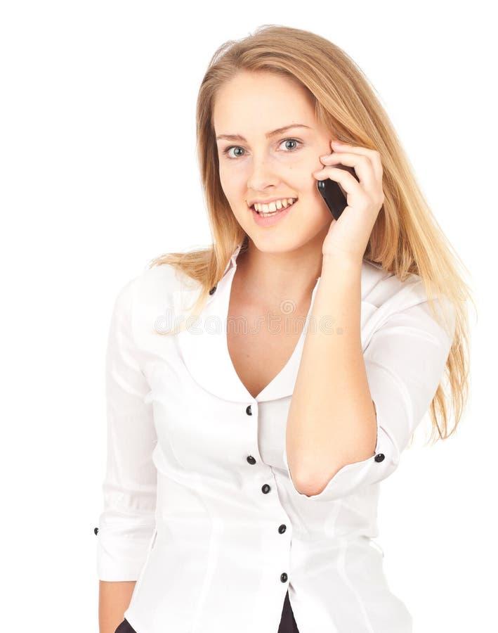 Download Affär Som Gör Telefonkvinnabarn Fotografering för Bildbyråer - Bild av jobb, stående: 19777379