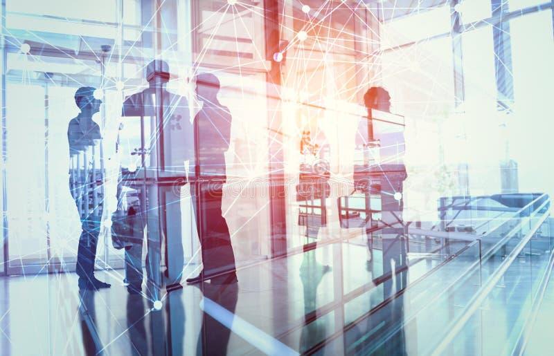 Affär som har ett informellt möte arkivfoto