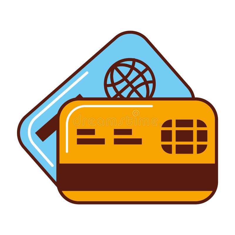 Aff?r som packar ihop kreditkortekonomi vektor illustrationer