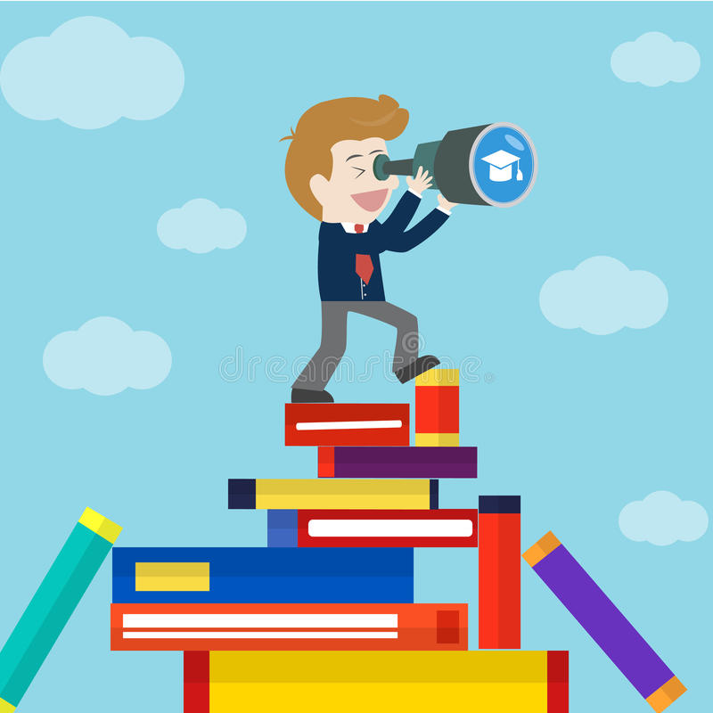 Affär som söker efter utbildning stock illustrationer