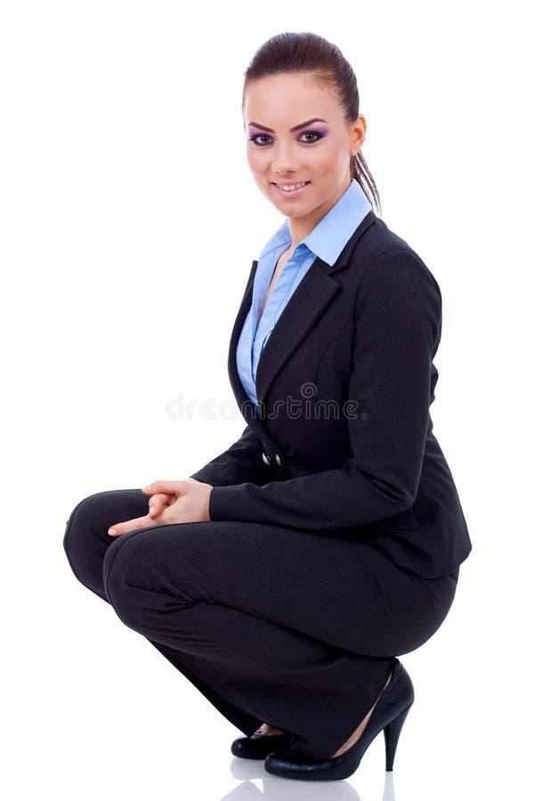affär som sitter tillfälligt kvinnan arkivfoton