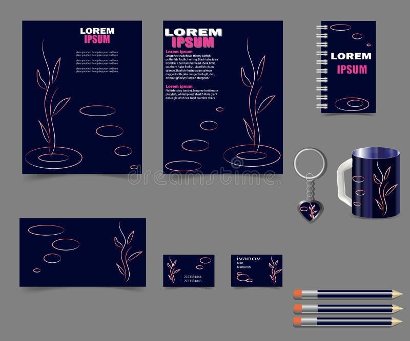 Affär-stil-för-din-design-projekt-mörker-blått stock illustrationer