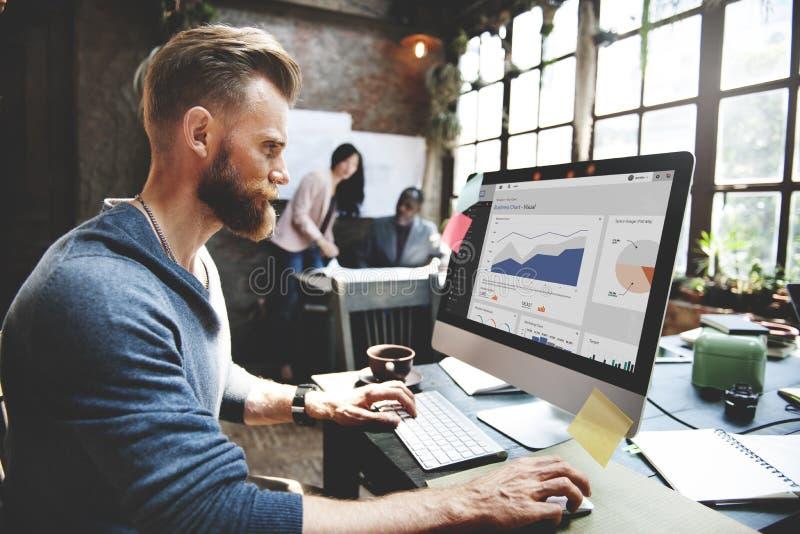 Affär Team Corporate Marketing Working Concept fotografering för bildbyråer