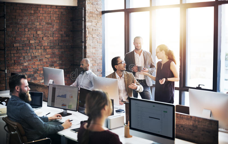 Affär Team Discussion Meeting Corporate Concept royaltyfria bilder