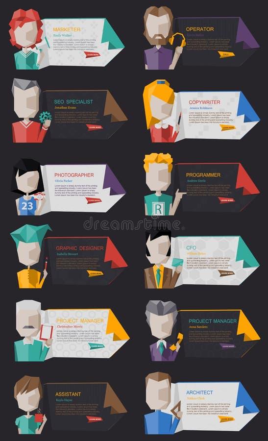Affär Team Kit vektor illustrationer