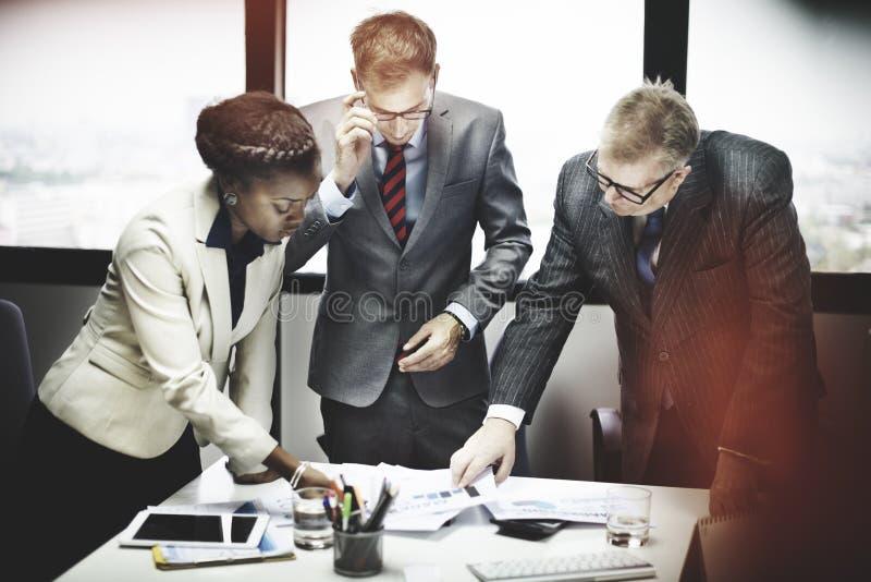 Affär Team Meeting Organization Corporate Concept royaltyfri bild