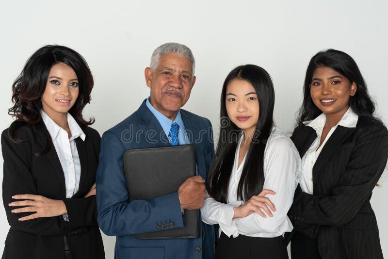 Affär Team Of Minority Workers royaltyfri bild
