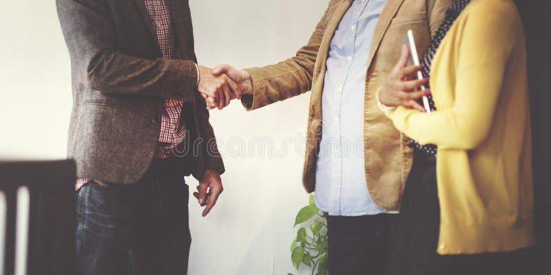 Affär Team Partnership Greeting Handshake Concept royaltyfria foton