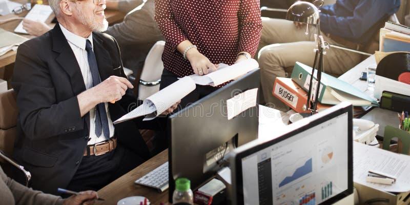 Affär Team Working Office Worker Concept arkivbild
