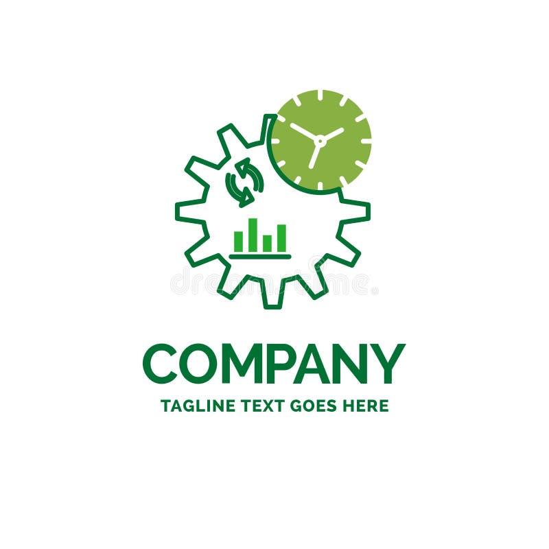 Affär teknik, ledning, för affärslogo för process plan te royaltyfri illustrationer