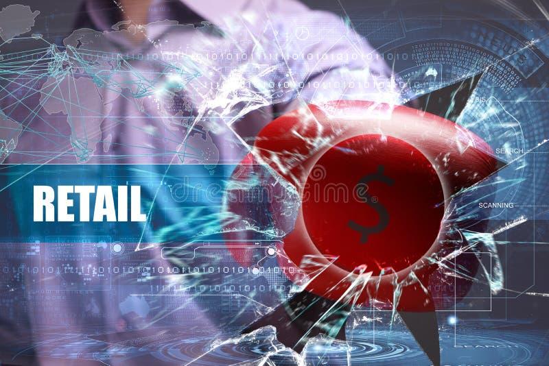 Affär teknologi Internet marknadsföring detaljhandel arkivbild