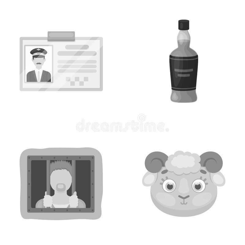 Affär, underhållning, yrke och annan rengöringsduksymbol i monokrom stil ull djur, leksak, symboler i uppsättningsamling royaltyfri illustrationer