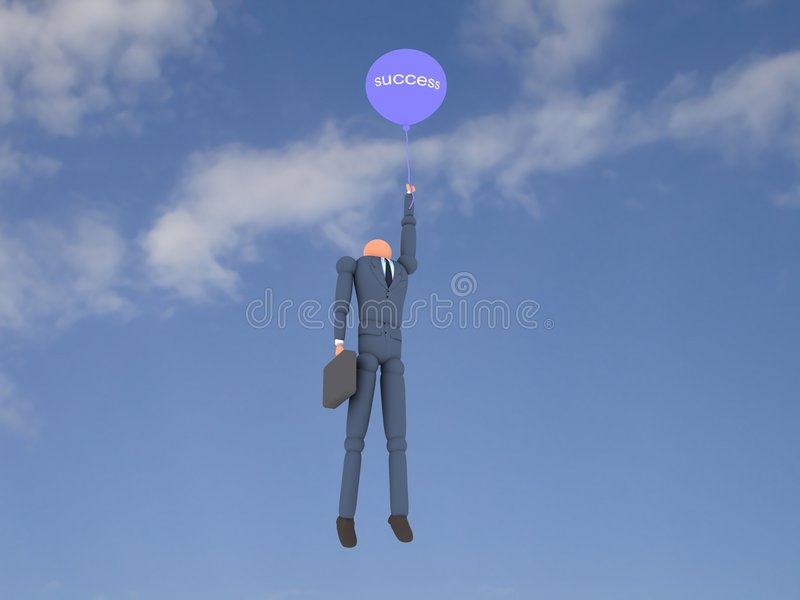 affär vol för 3 ballong stock illustrationer