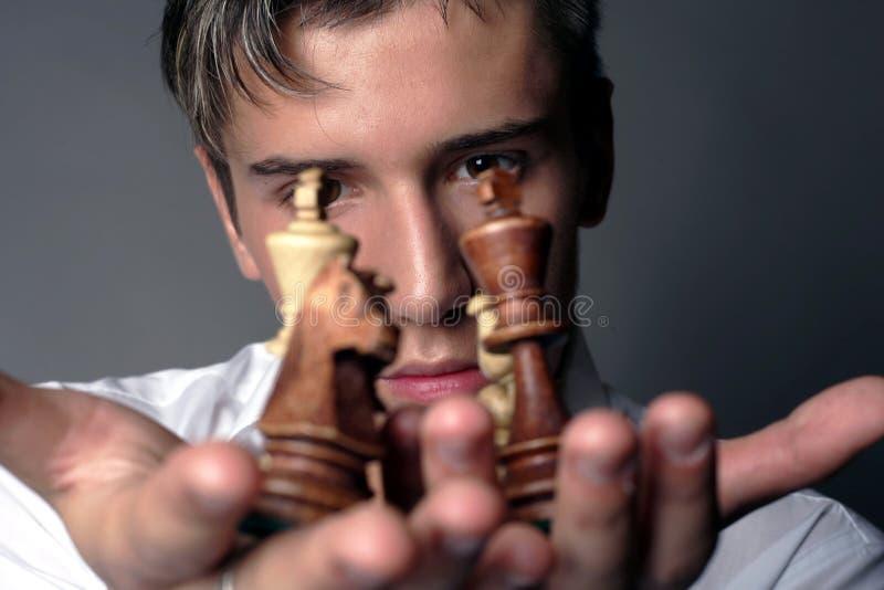 Affären är schacket royaltyfri bild