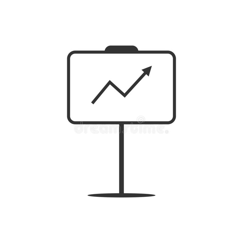 Affären bläddrar diagramsymbolen Vektorillustration, lägenhetdesign stock illustrationer