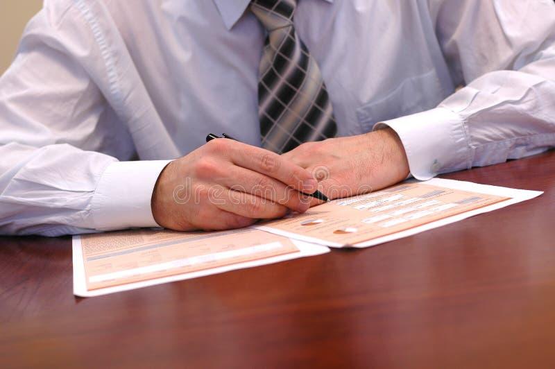 affären details presentation royaltyfri bild