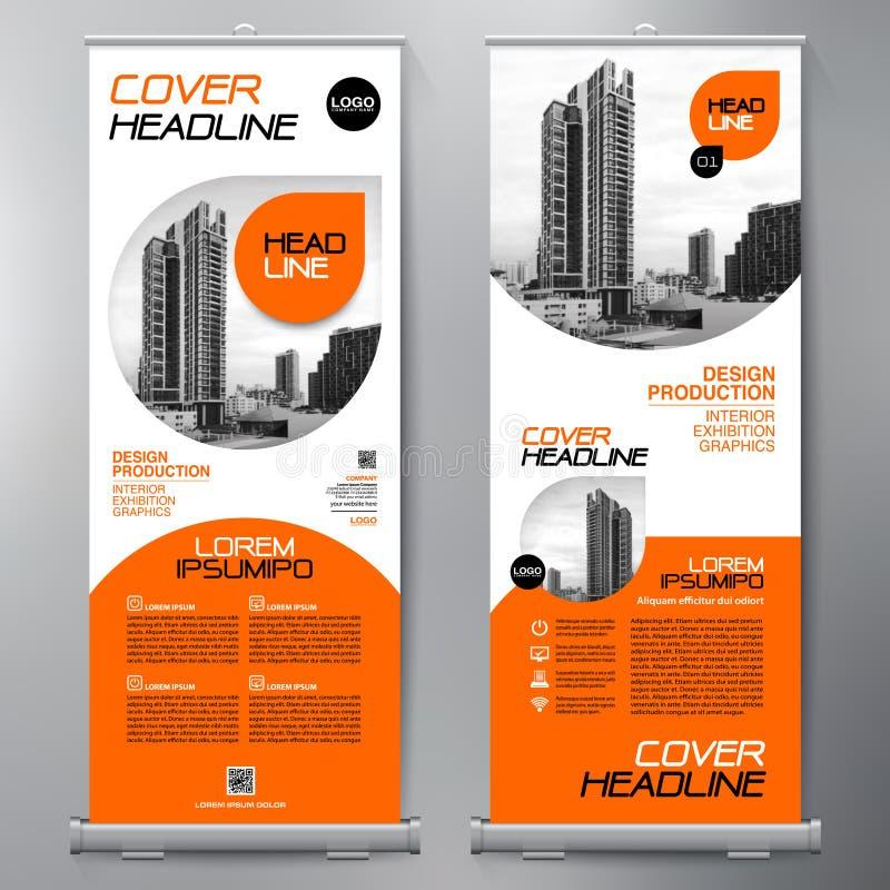 Affären rullar upp Standeedesign banermall presentation stock illustrationer