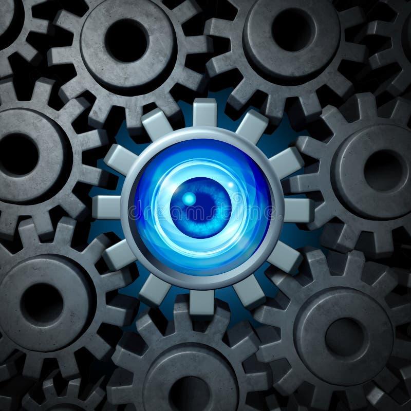 Affärsövervakningbegrepp vektor illustrationer