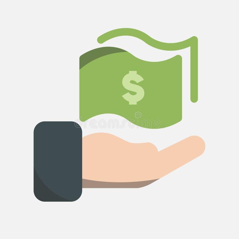 Affärs-, bankrörelse- och finanssymbol, brevlådavisningfaktura med dollarvaluta på skärmen ovanför itBusiness, bankrörelsen och f royaltyfri illustrationer