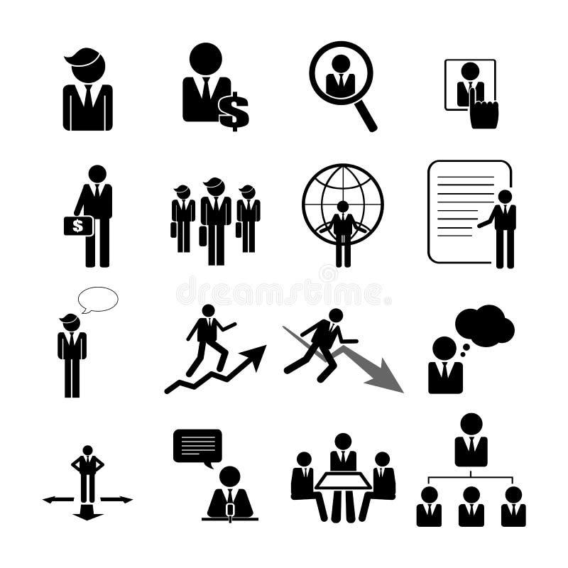 Affärs-, ledning- och personalresurssymboler ställde in eps 10 vektor illustrationer