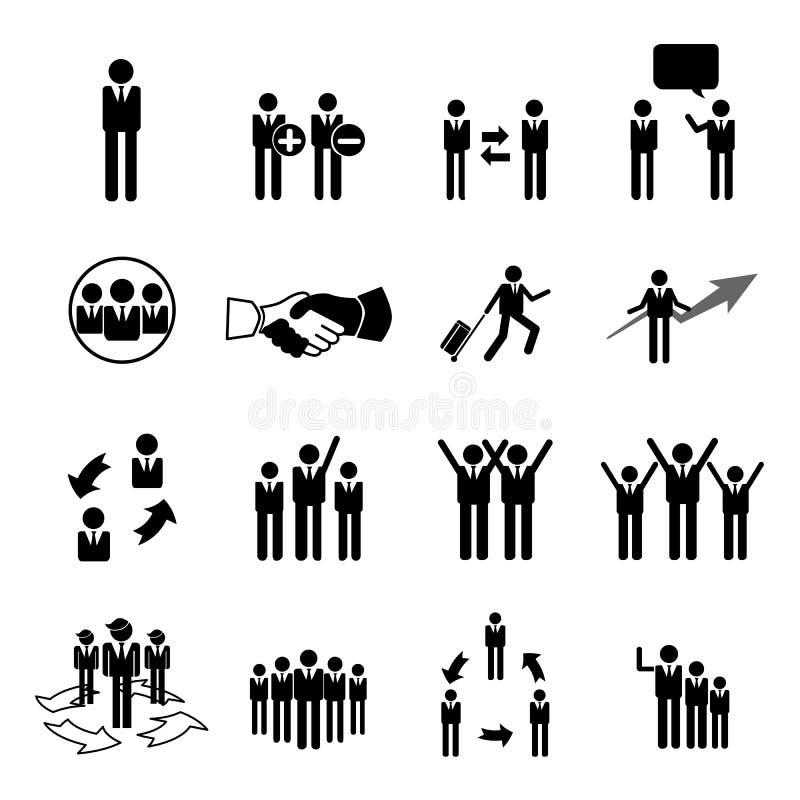 Affärs-, ledning- och personalresurssymboler ställde in eps 10 stock illustrationer
