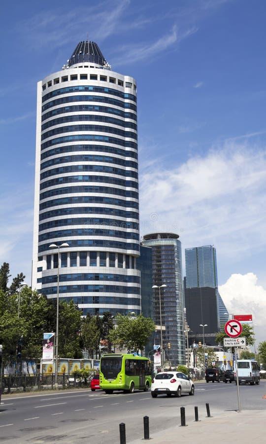 Affärs- och finansområde av Istanbul arkivbilder
