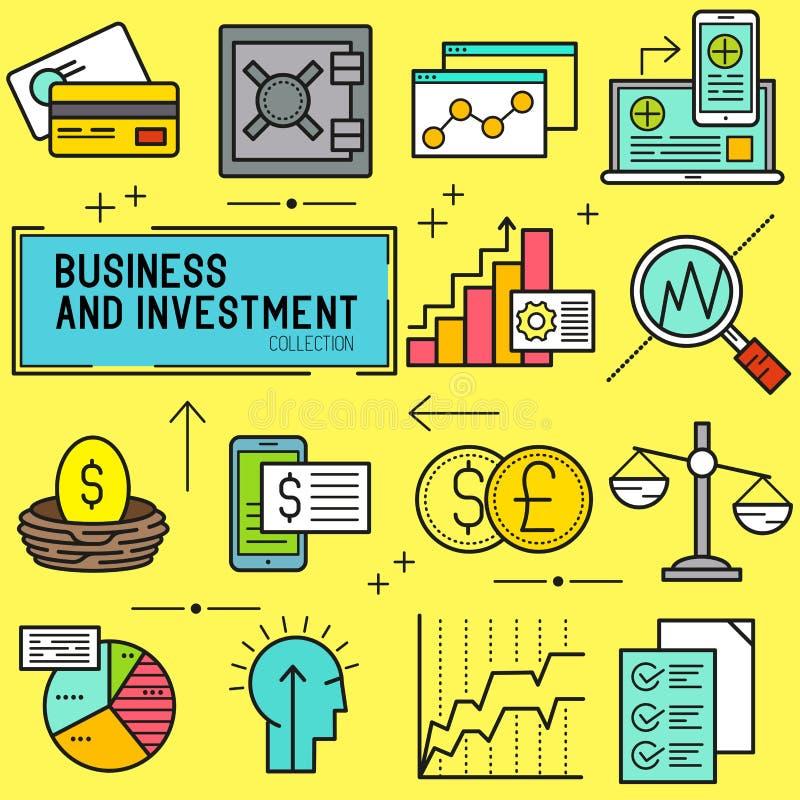 Affärs- och investeringvektor stock illustrationer