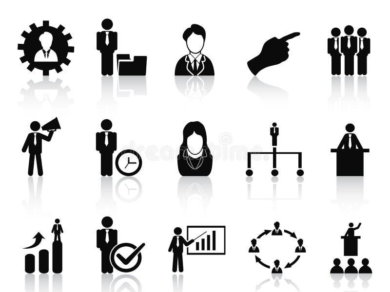 Affärs- och ledningsymbolsuppsättning vektor illustrationer