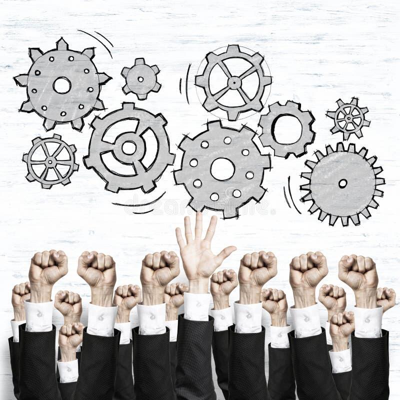 Affärs- och teamworkbegrepp royaltyfria bilder