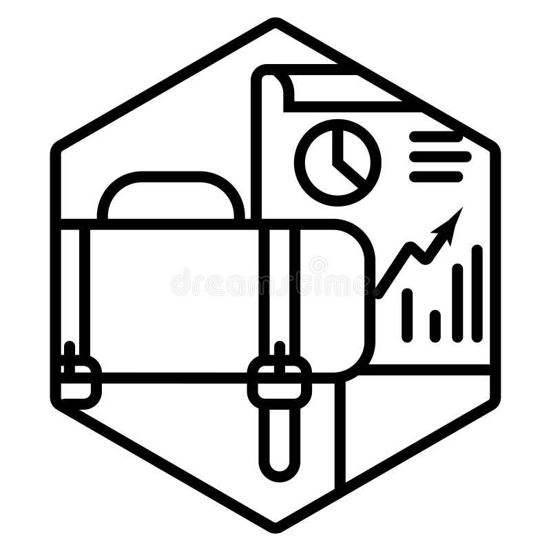 Affärsanalys, dataanalys royaltyfri illustrationer