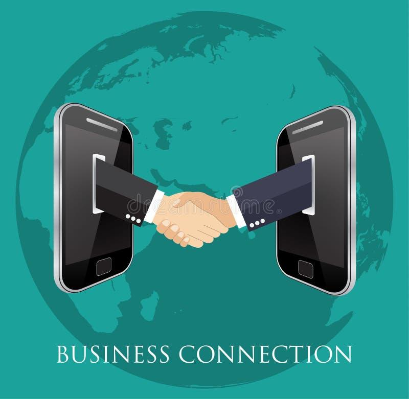 Affärsanslutning och förbindelse stock illustrationer