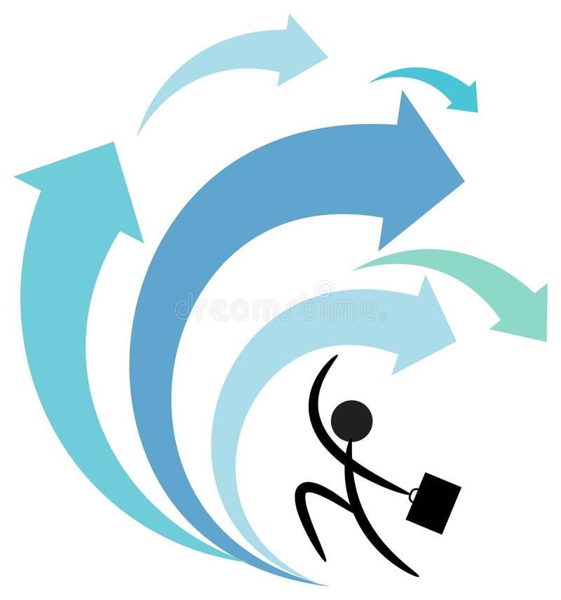 affärsansträngning vektor illustrationer