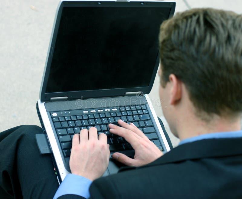 Download Affärsarbete fotografering för bildbyråer. Bild av laptop - 39727