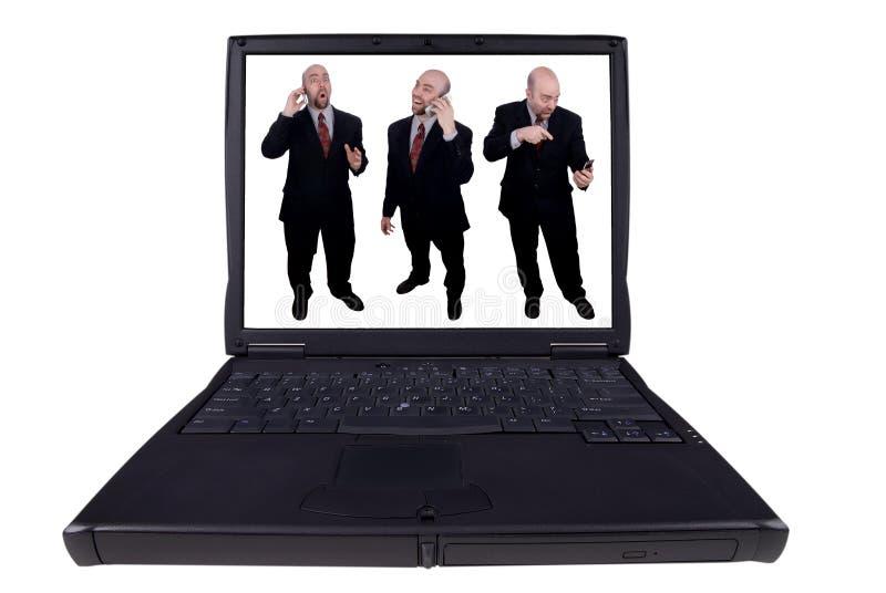 affärsbärbar datormän royaltyfri bild