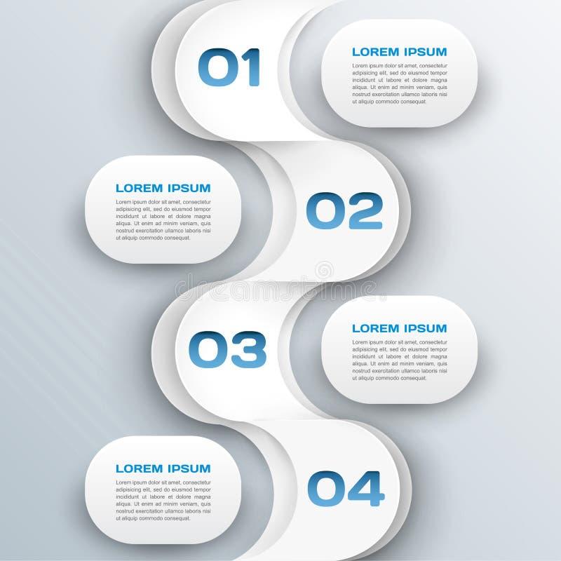 Affärsbakgrund - abstrakt infographicsmall för papper 3d stock illustrationer