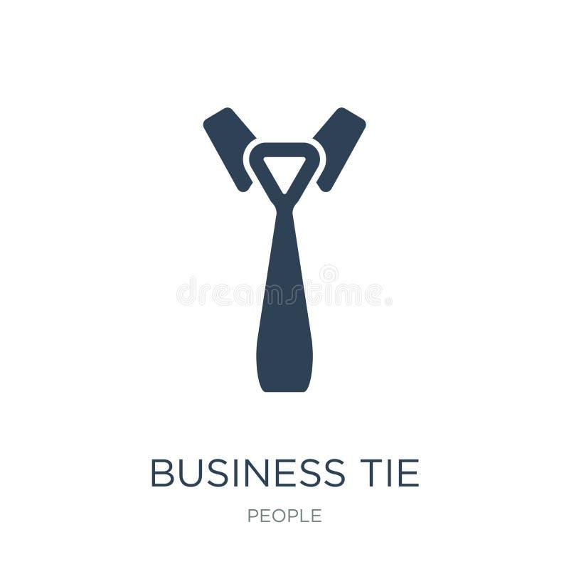 affärsbandsymbol i moderiktig designstil affärsbandsymbol som isoleras på vit bakgrund enkel symbol för affärsbandvektor och stock illustrationer