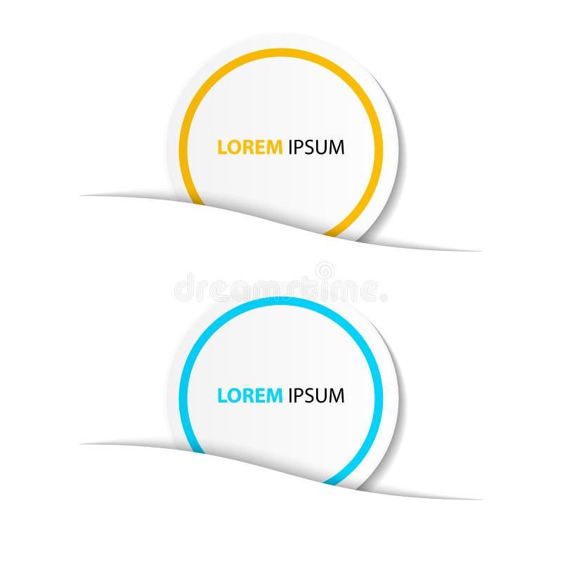 Affärsbaner för rengöringsdukdesign som är idérikt för websiten, vektor t stock illustrationer