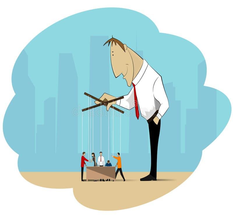Affärsbehandlig vektor illustrationer
