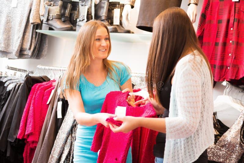 Affärsbiträde Talking To Customers arkivbild
