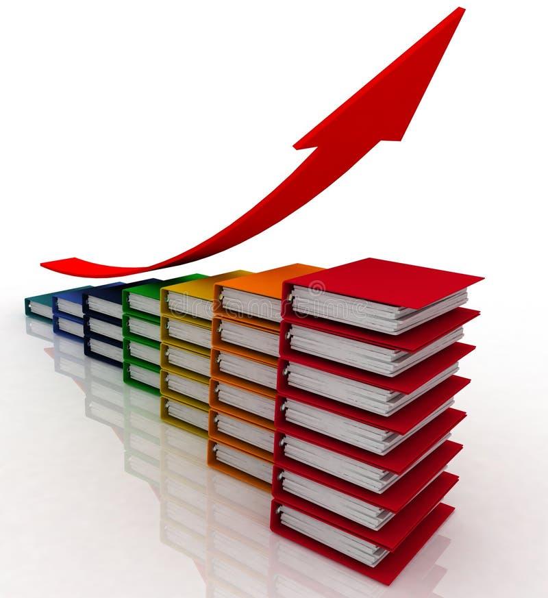 affärsdiagram stock illustrationer