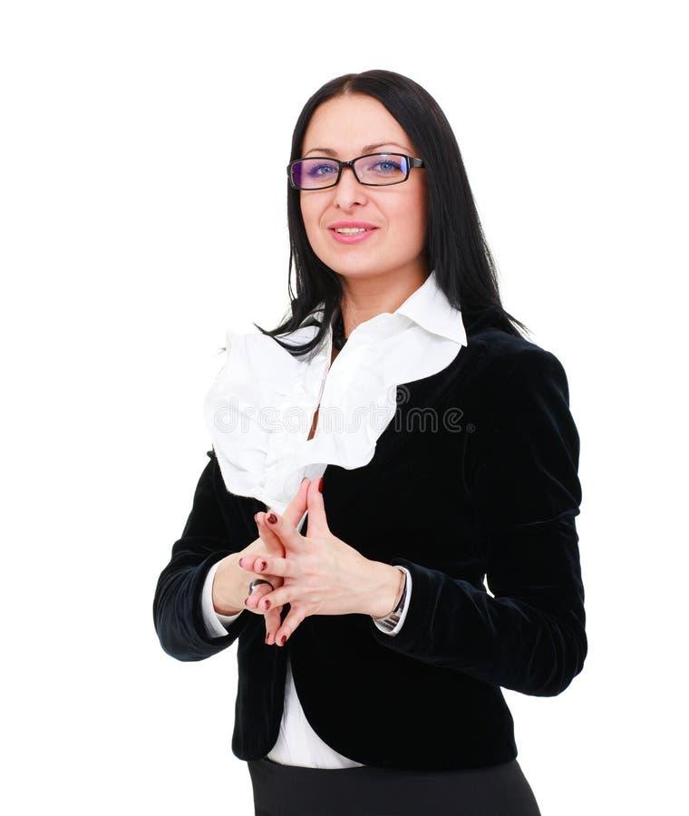 affärsexponeringsglas som slitage kvinnan royaltyfria bilder