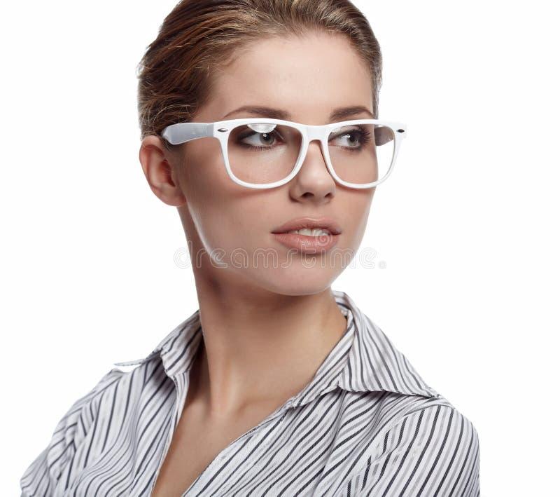 affärsexponeringsglaskvinna fotografering för bildbyråer