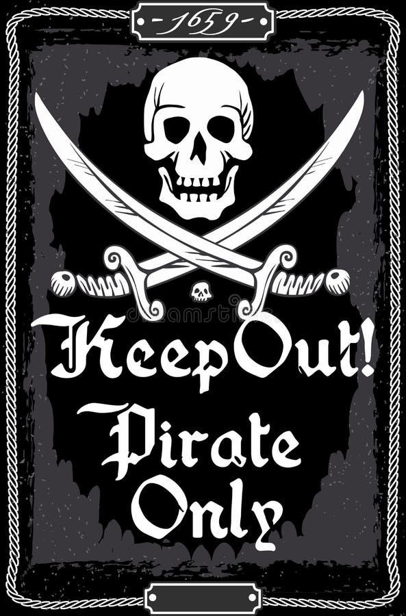 Affärsföretag Tid Boatswain Corsair Billboard Ban royaltyfri illustrationer