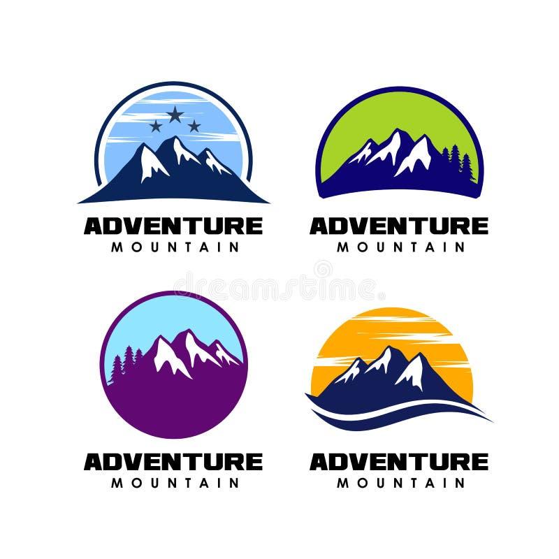 Affärsföretaglogodesign symbol för berglogodesign royaltyfri illustrationer