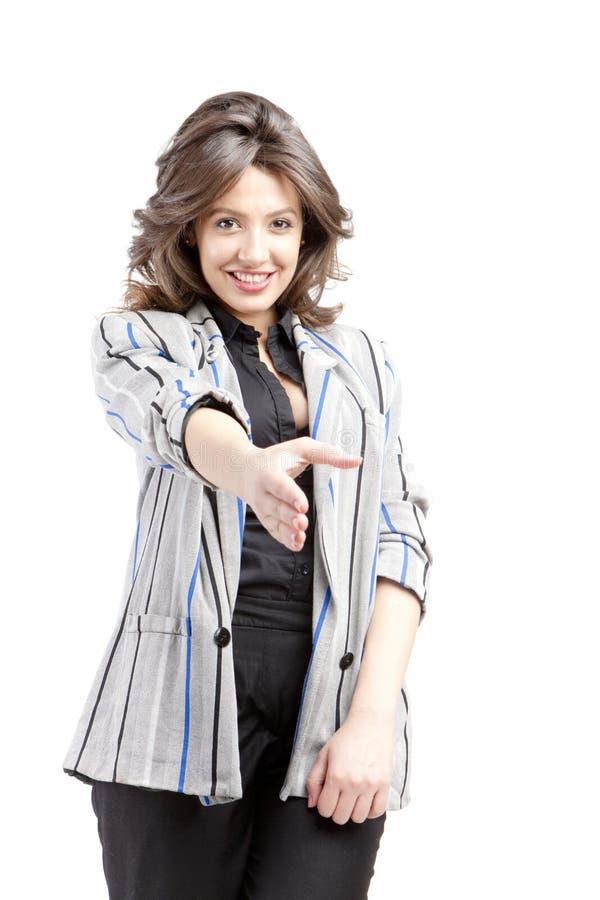 affärsförsäljningskvinna arkivbild