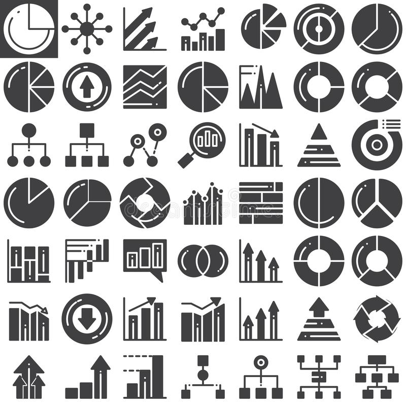 Affärsfinans kartlägger vektorsymbolsuppsättningen royaltyfri illustrationer