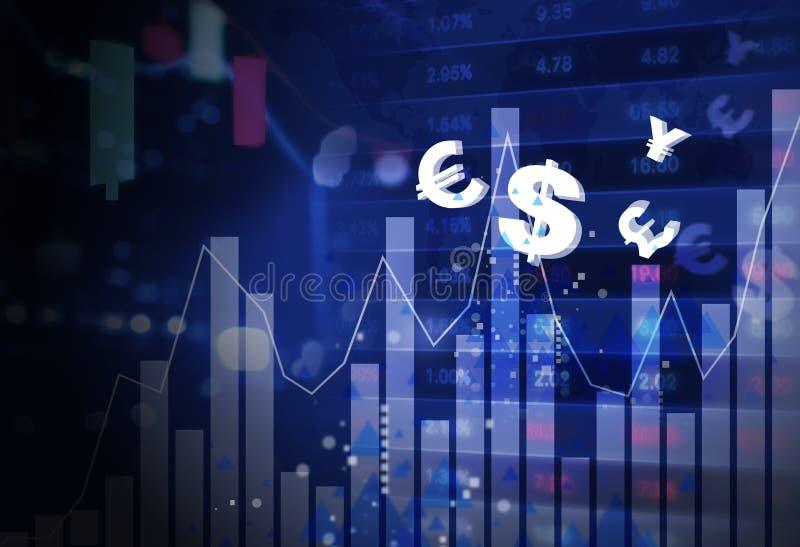 Affärsfinansbegrepp av online-handelforexen vektor illustrationer