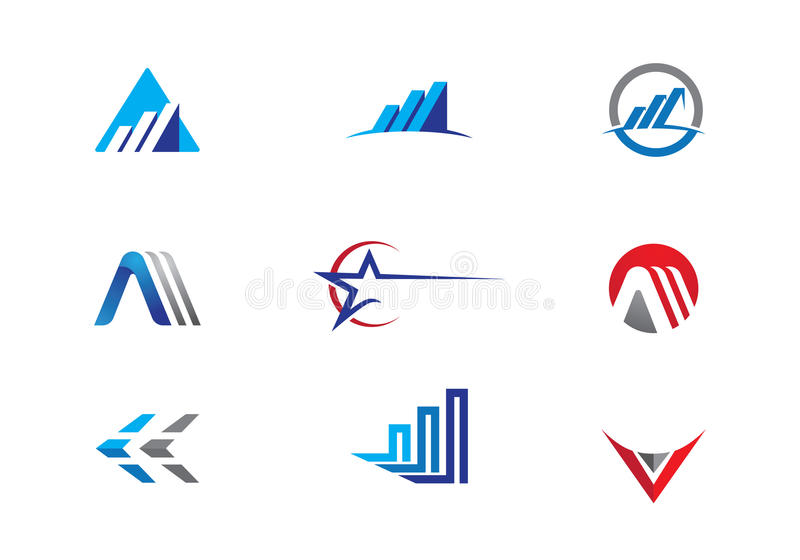 Affärsfinanslogo stock illustrationer